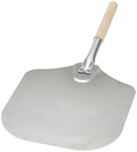 Kitchen Supply 12-Inch x 14-Inch Aluminum Pizza Peel with Wood Handle
