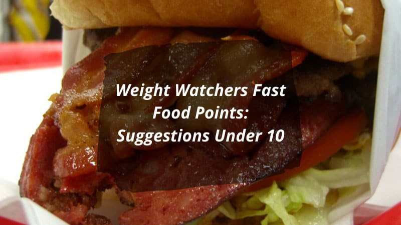 Weight Watchers Fast Food Points