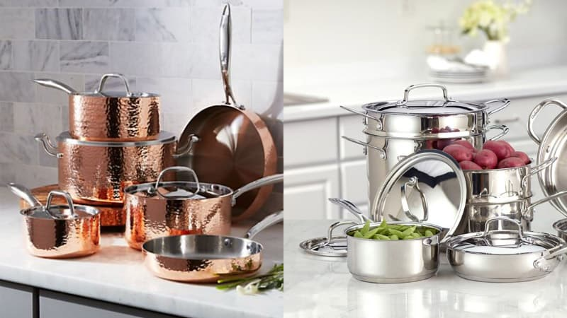 Stainless Steel or Copper Cookware