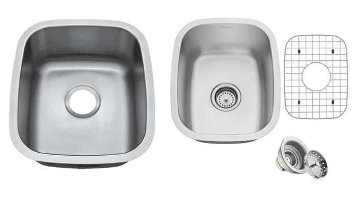 16 or 18 gauge stainless steel sink
