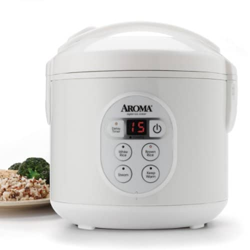 Aroma Housewares 8-Cup (Cooked) (4-Cup UNCOOKED) Digital Rice Cooker and Food Steamer