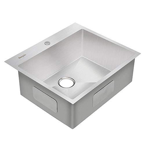 Bonnlo 25-inch 16 Gauge Topmount Kitchen Sink
