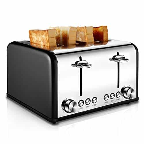 CUSIBOX Stainless Steel Toaster with Bagel