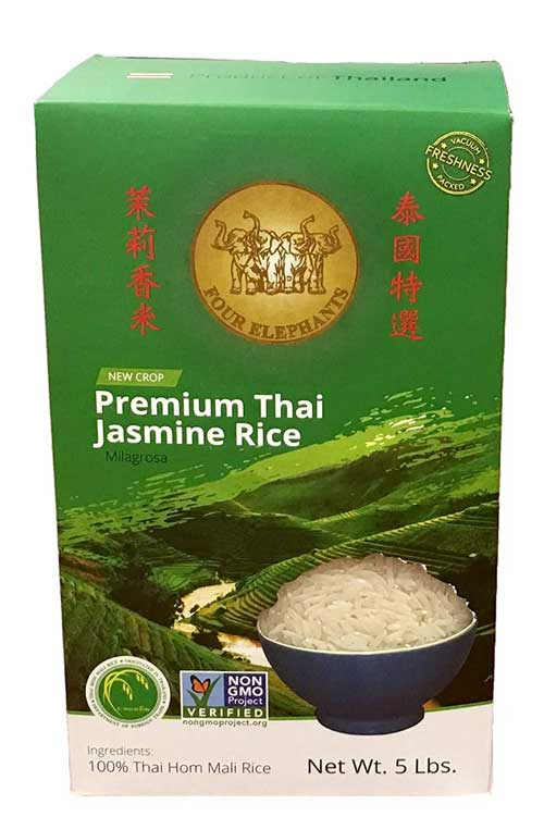 Four Elephants Premium Thai Jasmine Rice - 5 lbs