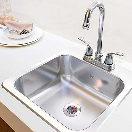 KINDRED Stainless Steel Drop-in Bar or Utility Sink