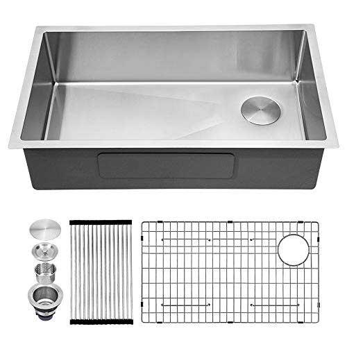 Kichae 32 Inch Undermount Stainless Steel Kitchen Sink