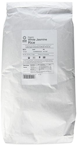 Lotus Foods Gourmet Organic Jasmine Rice – 25 lbs