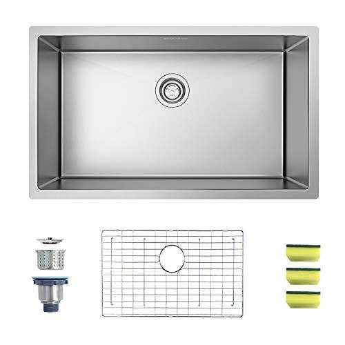 MENSARJOR 30″ x 18″ Single Bowl Kitchen Sink