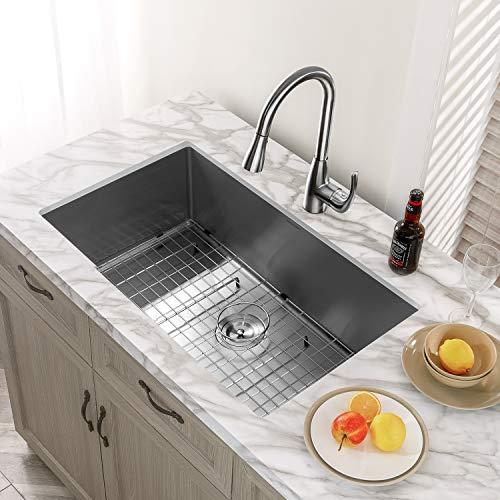 "MENSARJOR 32"" x 19"" Single Bowl Kitchen Sink"