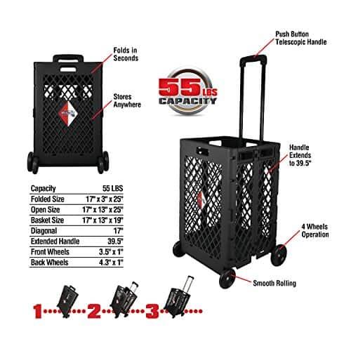 Olympia Tools 85-404 Pack-N Mesh Rolling Cart