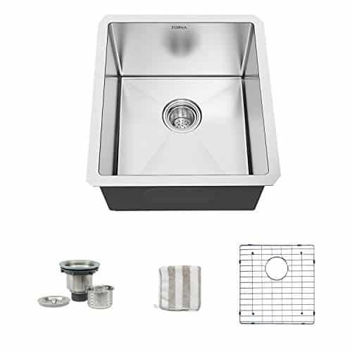 TORVA 13 x 15 Inch Undermount Kitchen Sink