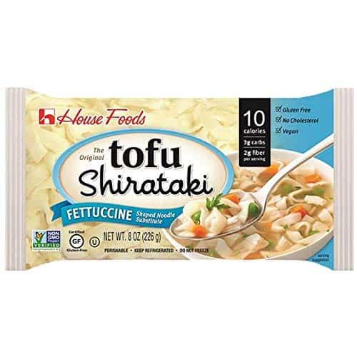 Tofu Shirataki Noodles Fettuccine Shape