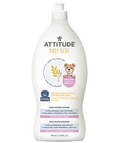 ATTITUDE Sensitive Skin, Hypoallergenic Baby Bottle & Dishwashing Liquid