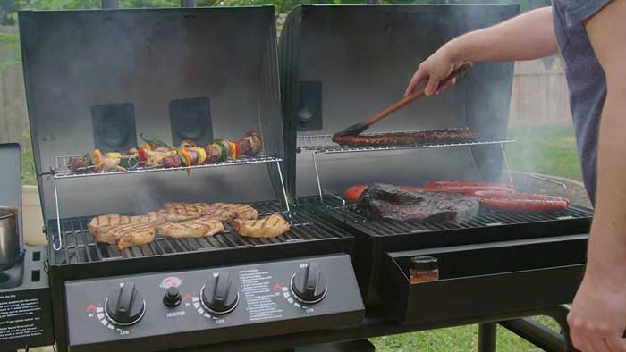 Gas Grill Smoker Combo=