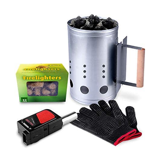 HOMENOTE Rapid Charcoal Chimney Starter Set