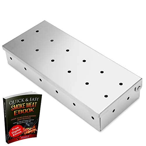 Kaduf Smoker Box Stainless Steel for Any BBQ Grill Gas