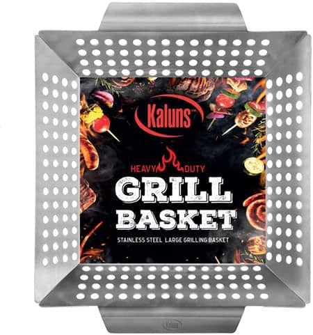 Kaluns Grill Basket Heavy-Duty Stainless Steel