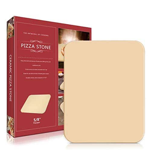 Lirradight Pizza Stone, Ceramic Pizza Grilling Stone/Baking Stone
