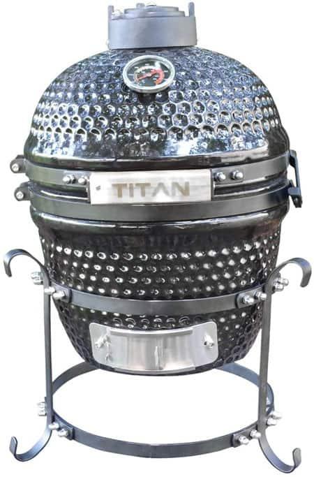 Titan Great Outdoors 10 Inch Mini Charcoal Ceramic Tabletop