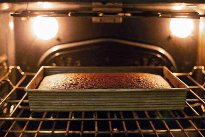 Cake Baking in Oven