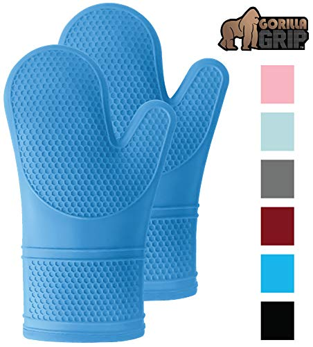 Gorilla Grip Premium Silicone Slip Resistant Oven Mitt Set