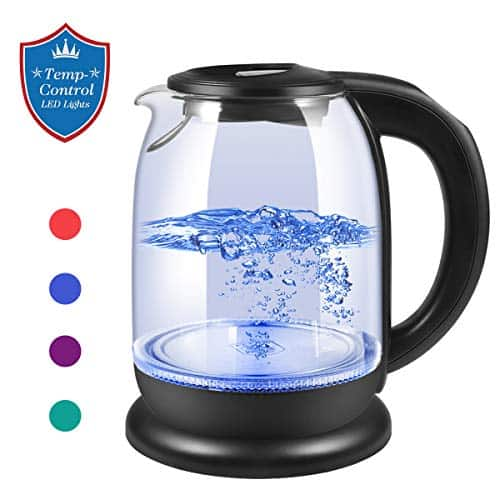 HASAKIE Electric Kettle, Glass Tea Kettle & Water Boiler