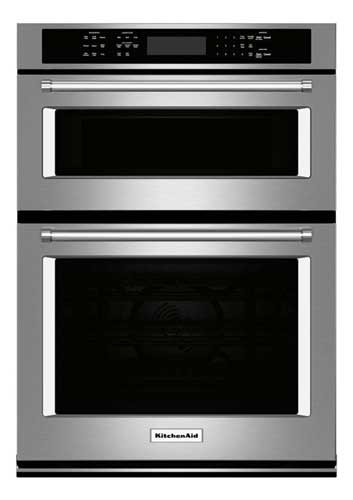 "KitchenAid 30"" Single Electric Wall Oven with Built-in Microwave"