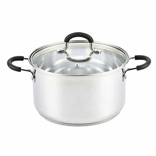 Cook N Home Stainless Steel Lid Stockpot saucier
