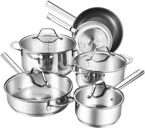 DEIK Stainless Steel Nonstick Cookware Set