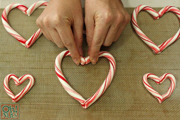 Candy Cane Heart Peppermint Bark