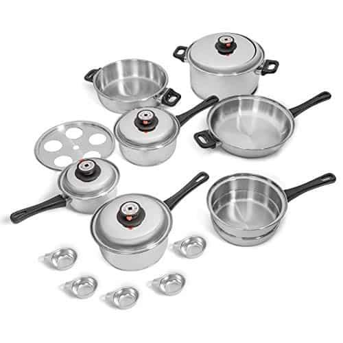Maxan 9-Element Waterless Cookware Set