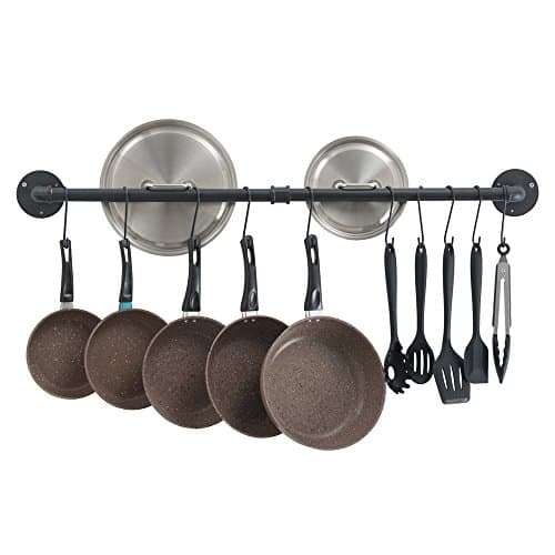 OROPY 39 Inch Pot Bar Rack Wall Mounted
