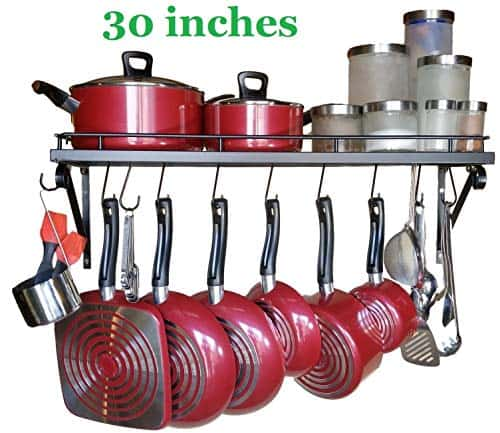 Premium Presents Wall Mounted Pots and Pans Rack