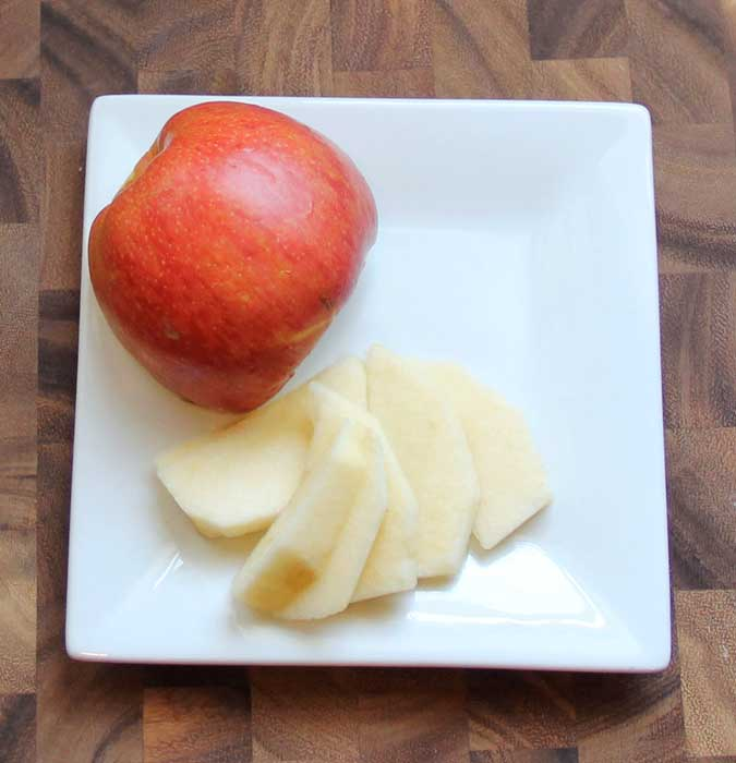 Skin and Slice the Apples