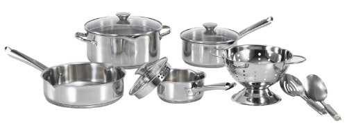 WearEver Cook and Strain Stainless Steel Cookware Set