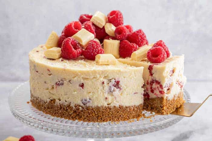 White Chocolate Strawberry Cheesecake