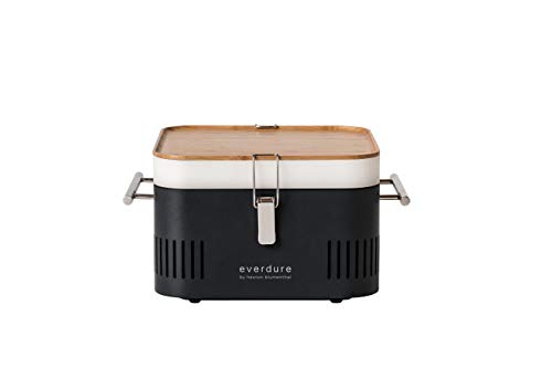 Everdure by Heston Blumenthal Cube Portable Charcoal Grill Perfect for Picnics