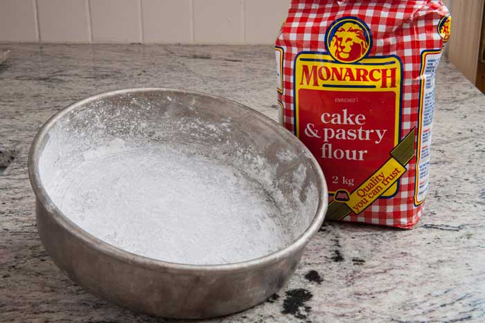 Grease with Flour