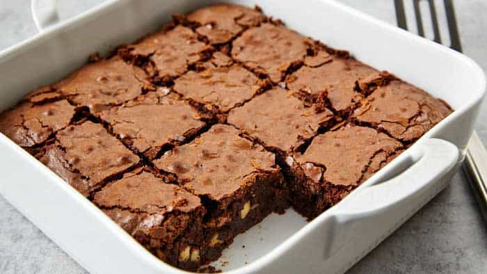 Hard Brownies Heat up in the Oven