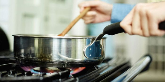 Pot over Gas Stove