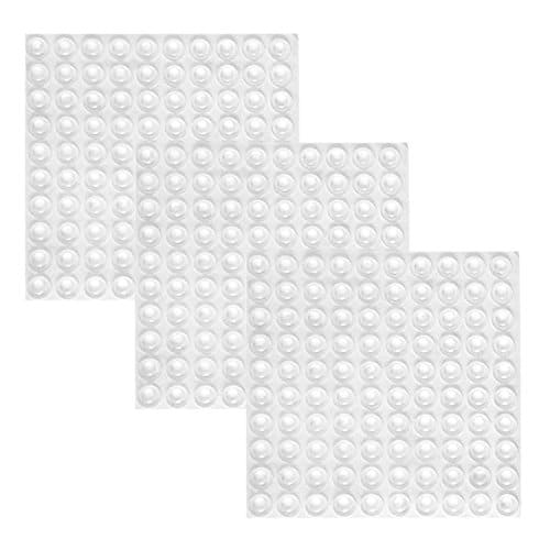 300 Pieces Clear Rubber Feet Adhesive Door Bumpers