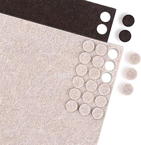 HongWay Furniture Felt Pads Bumpers 3/8 inch Diameter 360 Pieces