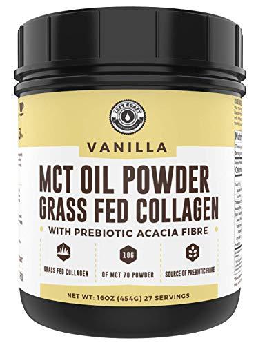 Keto MCT Powder + Collagen + Prebiotic Acacia Fibre, Vanilla