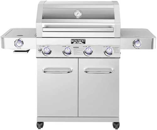 Monument Grills 35633 Stainless Steel 4 Burner Propane Gas Grill