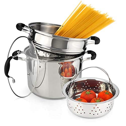 AVACRAFT 7-Quart Pasta Pot Set