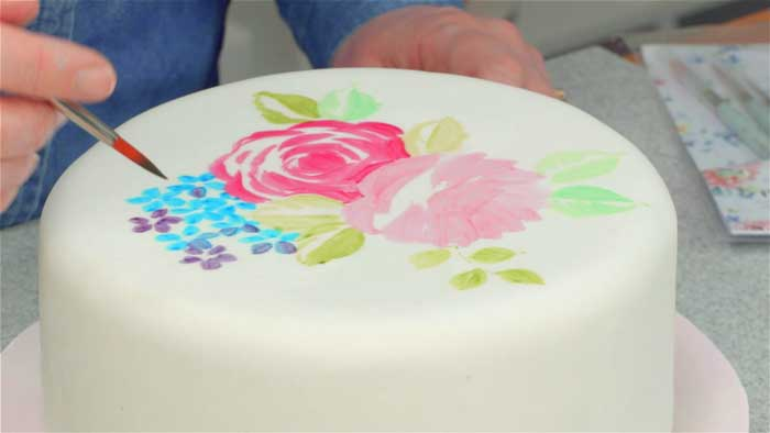Decorate a cake with Painted Pictures