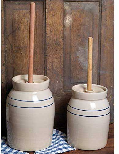 Martinez Pottery Hand-Turned Butter Churner