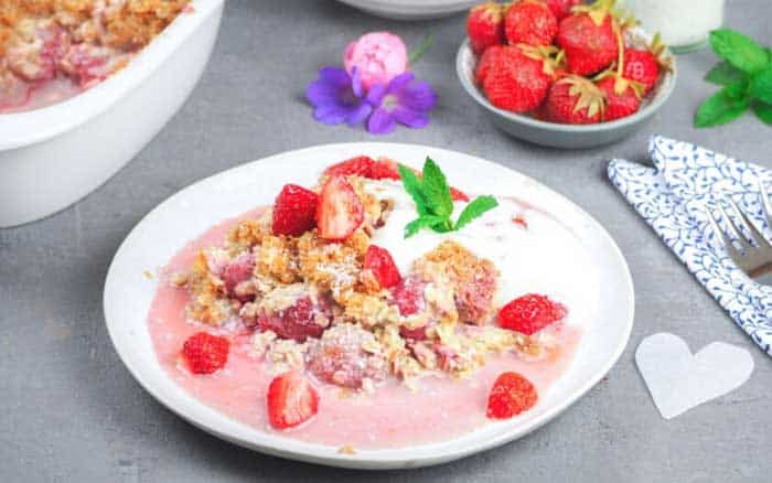 Strawberry and Coconut Flakes