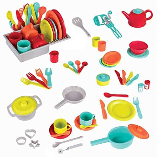 Battat Deluxe Kitchen Pretend Play Accessory Toy Set