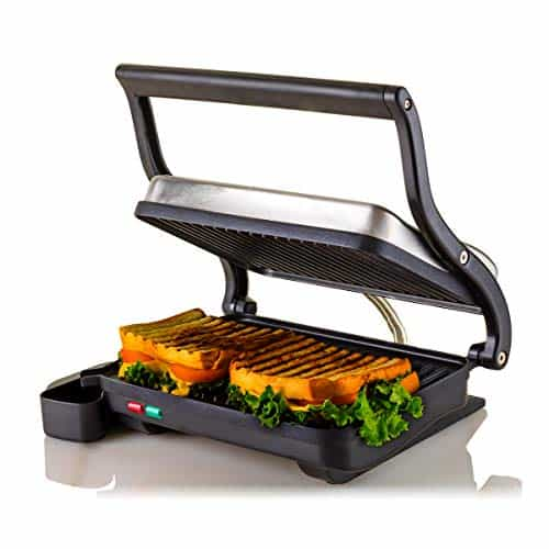 Ovente Electric Indoor Panini Press Grill